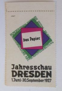 Vignetten Das Papier Jahresschau Dresden 1927  ♥ (21586)