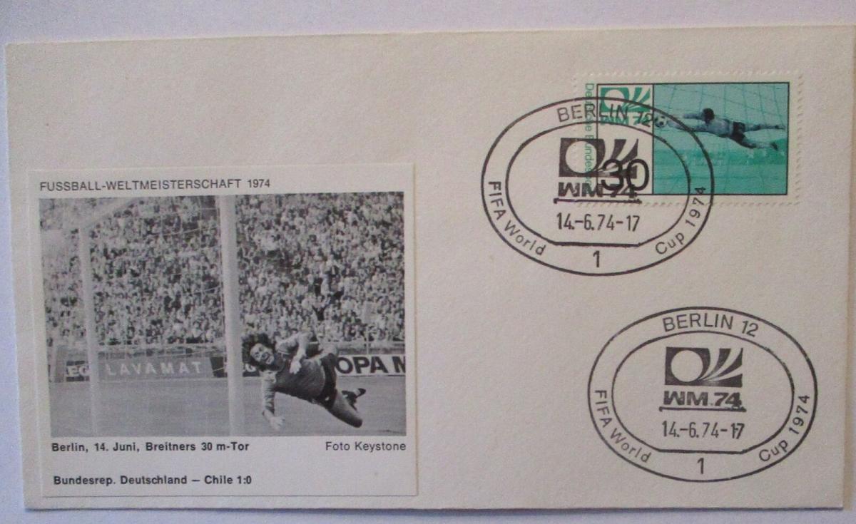 Fußball WM 1974 Deutschland - Chile, 30 m Tor von Paul Breitner (48270) 0