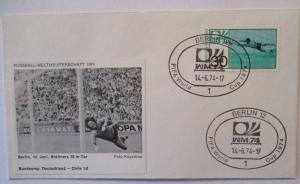 Fußball WM 1974 Deutschland - Chile, 30 m Tor von Paul Breitner (48270)