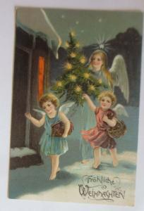 Weihnachten, Engel, Christkind, Weihnachtsbaum, 1909, Prägekarte ♥ (27027)