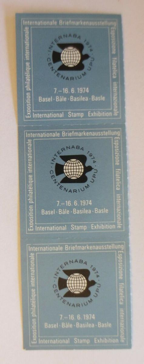 3.Vignetten Internationale Briefmarkenausstellung Basel 1974  ♥ (21497) 0