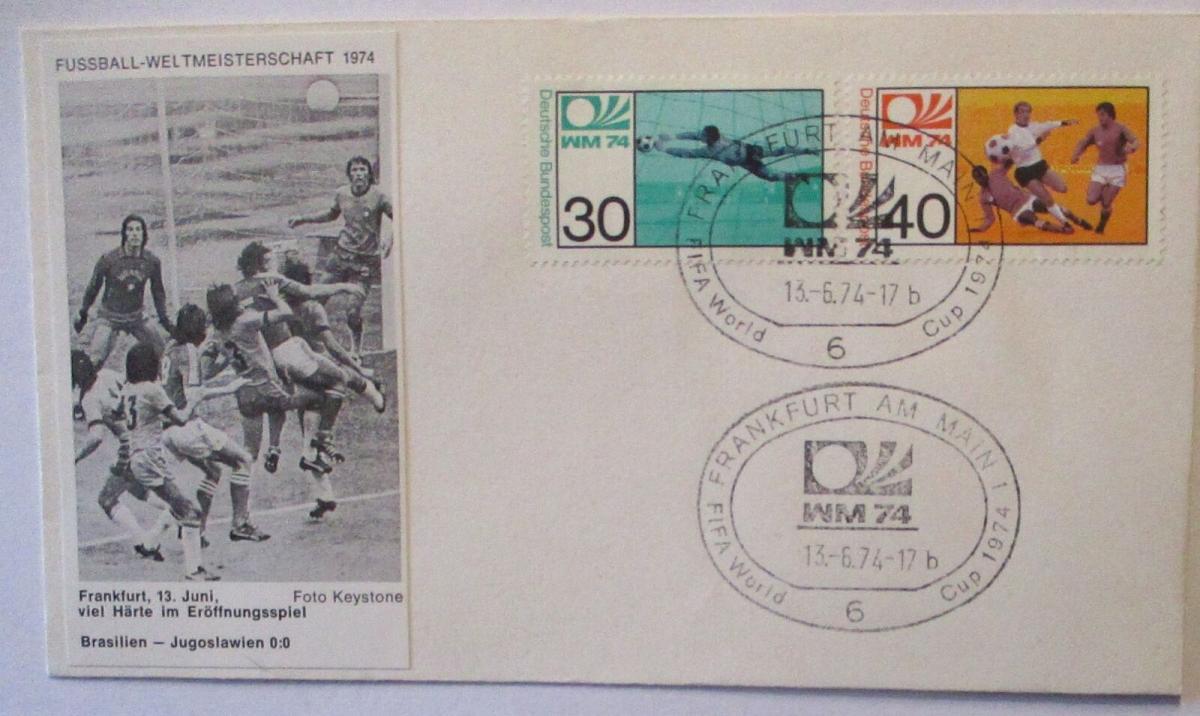 Fußball WM 1974 Brasilien - Jugoslawien Eröffnungsspiel (45055) 0