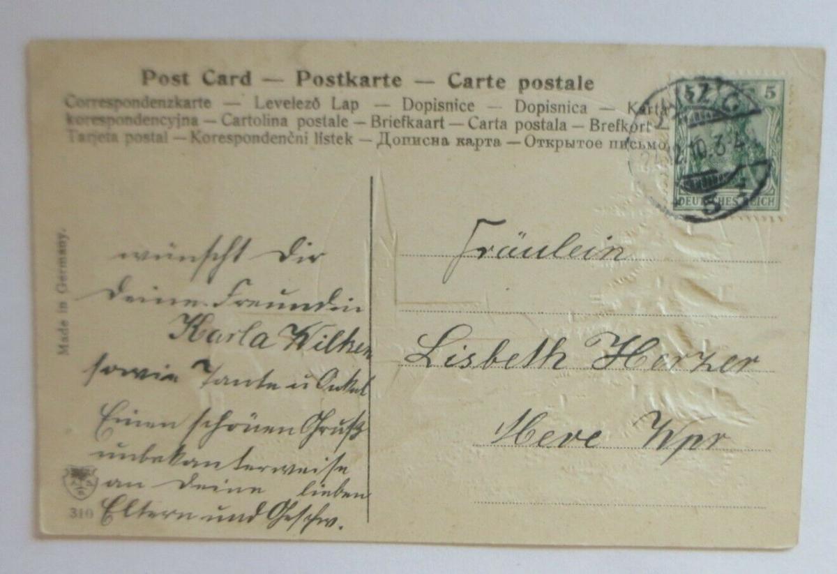 Weihnachten, Kirche, Dorf, Weihnachtsbaum,  1910, Prägekarte ♥ (23881) 1