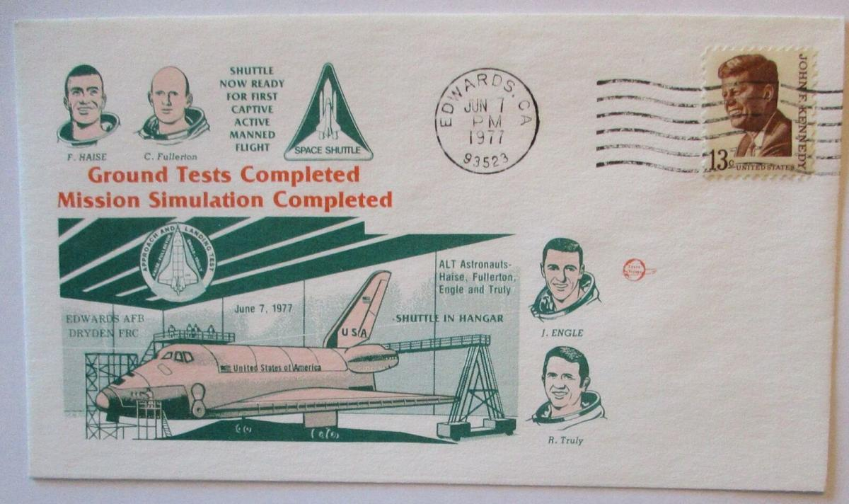 Raumfahrt USA NASA Space Shuttle Ground Tests Completed 1977 (37696) 0