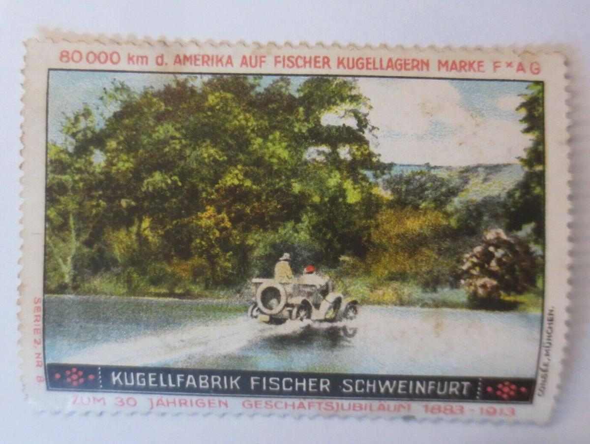 Vignetten Kugelfabrik Fischer Schweinfurt zum 30 Jahre Jubiläum 1900♥ (50807) 0