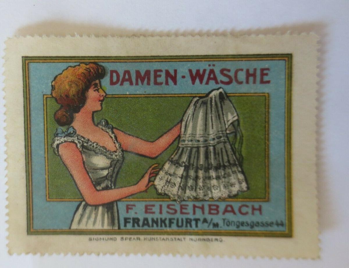 Vignetten  Damen-Wäsche F. Eisenbach Frankfurt a. M.    ♥ (18795) 0