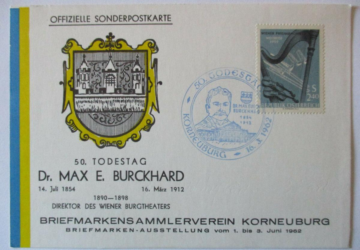 Theater, Max Burckhard, Sonderkarte 1962 (5106) 0