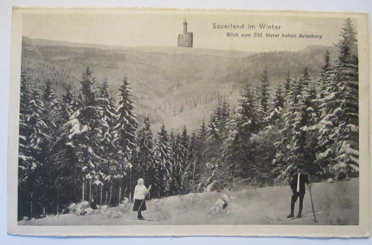 Sauerland im Winter, Blick auf den Astenberg (52996) 0