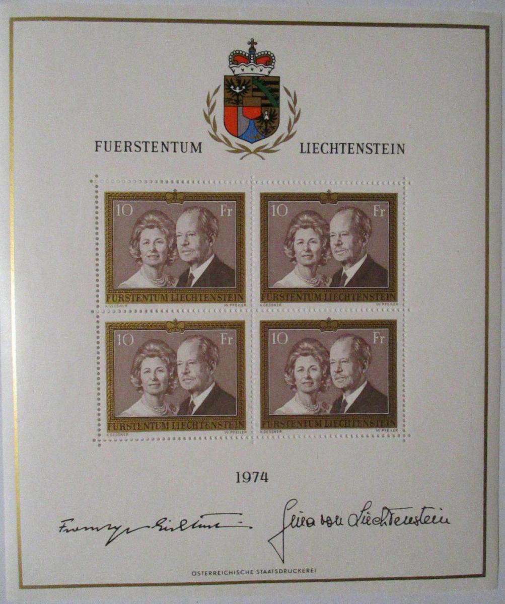 Liechtenstein Nr. 614 Kleinbogen 1974 postfrisch  (1767) 0
