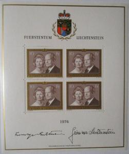 Liechtenstein Nr. 614 Kleinbogen 1974 postfrisch  (1767)