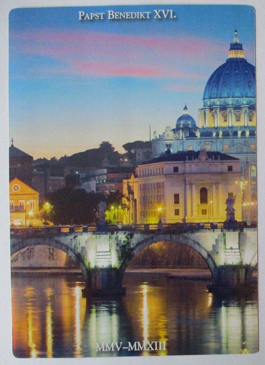 Folienblatt Portocard Individuell Papst Benedict XVI. 2013 Sonderstempel 1