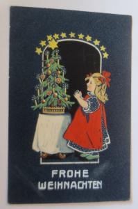 Weihnachten, Kinder, Mode, Weihnachtsbaum, 1905, Prägekarte ♥ (13135)