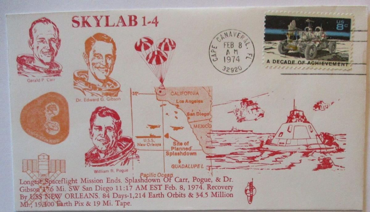 Raumfahrt USA NASA Space Skylab 1-4 Astronauten 1974 (1196) 0