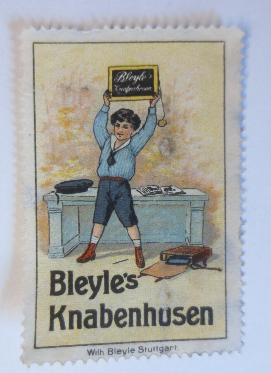 Vignetten  Bleyle´s Knabenhusen Stuttgart  1900 ♥ (47097) 0