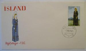Island, Nr.398 Freimarke Nationaltracht FDC 1965