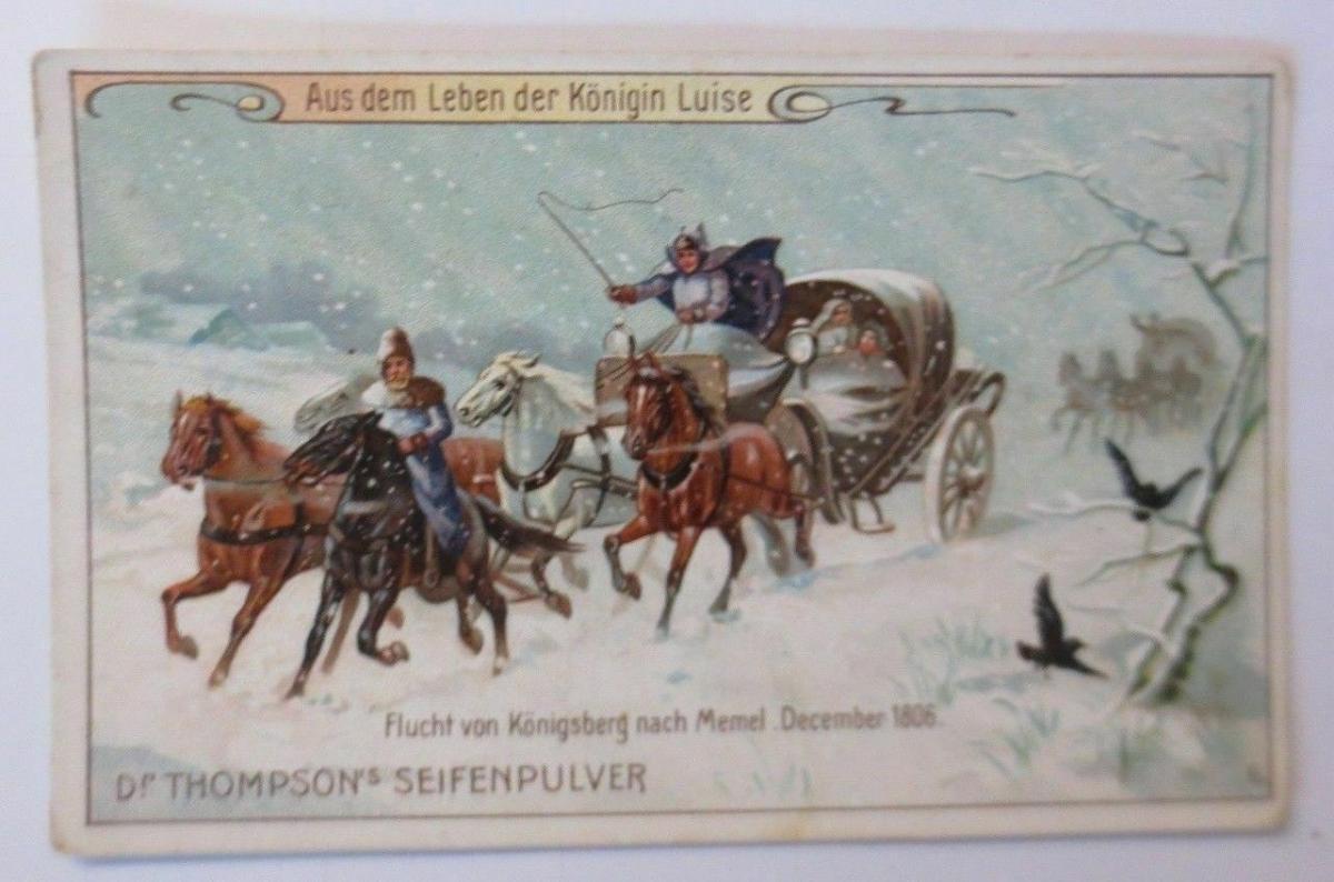 Kaufmannsbilder, Thompson´s Seifenpulver, Aus dem Leben der Königin ♥ (38475) 0