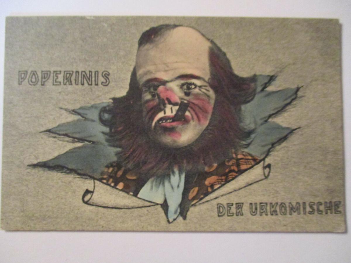 Circus, Varietrè, Clown, Der urkomische Poperinis, ca. 1910 (35253) 0