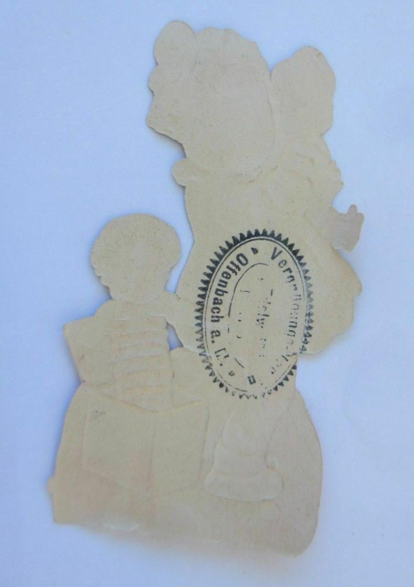 Oblaten, Kinder, Puppe, Kistenteufel,    11 cm x 5,5 cm ♥ 1