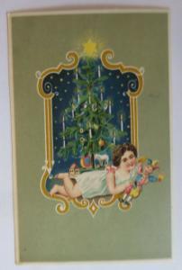 Weihnachten, Kinder, Mode, Spielzeug, Kasper, Weihnachtsbaum, 1908 ♥ (3252)
