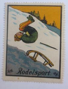 Vignetten  Sport  Rodelsport 1900 ♥ (35120)