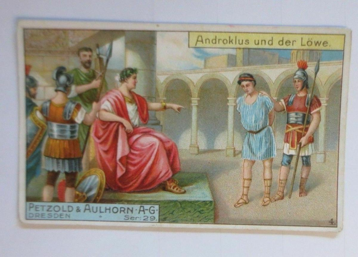 Kaufmannsbilder, Petzold & Aulhorn Dresden, Androklus u. der Löwe ♥ 0