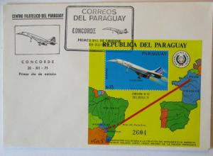 Flugzeuge Concorde Block Paraguay 1975 (36655)