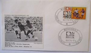 Fußball WM 1974 Polen - Brasilien, Jairzinho und Kasparczak Mirandinha (80016)