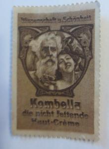 Vignetten Wissenschaft u. Schönheit Kombella Haut Creme  1900 ♥ (22695)