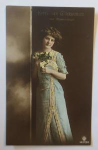Namenstag, Frauen, Mode, Blumen,   1912  ♥ (45830)
