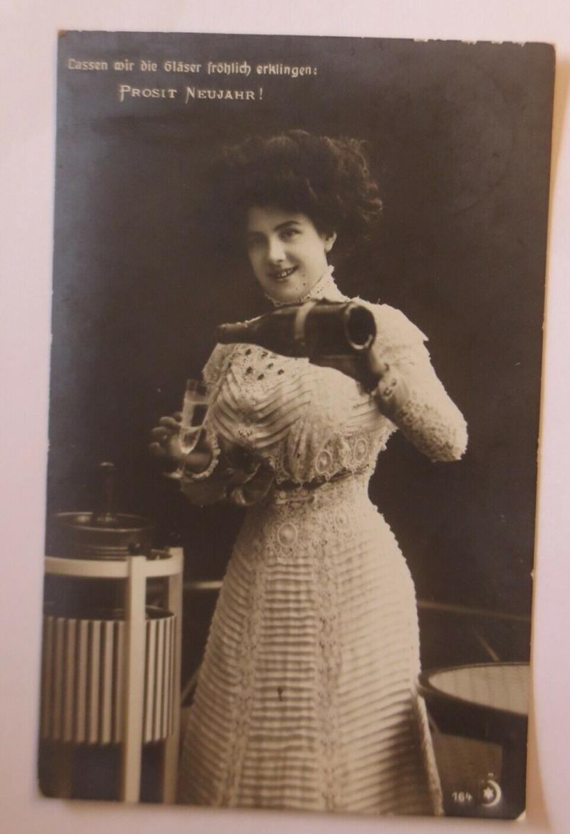 Neujahr, Frauen, Mode, Sekt   1910  ♥ (41661) 0