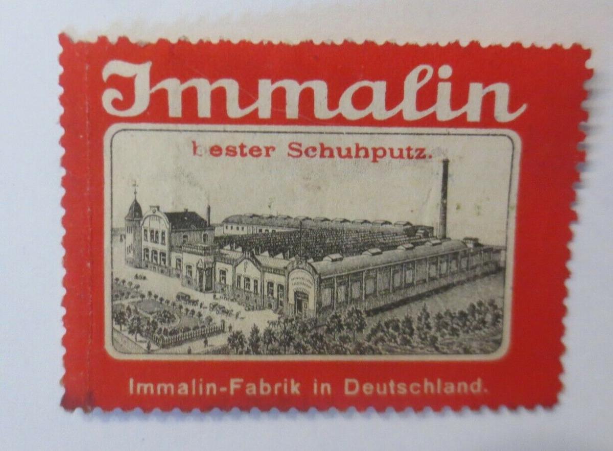 Vignetten Immalin Fabrik  Bester Schuhputz  1900 ♥ (17130) 0