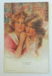 Künstlerkarte, Frauen, Mode, Im Vetrauen, Reinthal & Newman, 1920 ♥ (58235)