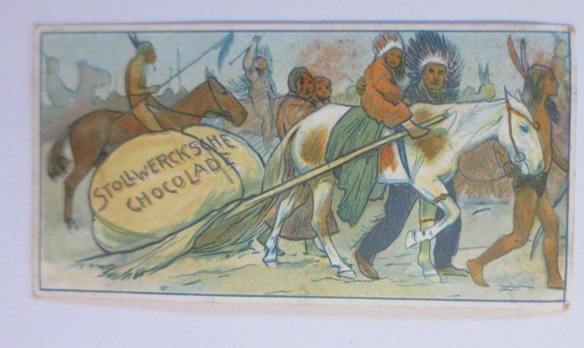 Stollwerck, Gruppe 169, Nr.1, Album ,Nr.4, Mensch und Pferd ♥ 0