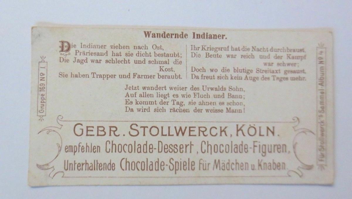 Stollwerck, Gruppe 169, Nr.1, Album ,Nr.4, Mensch und Pferd ♥ 1