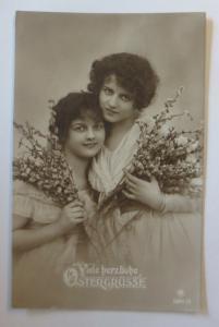 Ostern, Frauen, Mode, Weidenkätzchen,   1920  ♥ (39144)