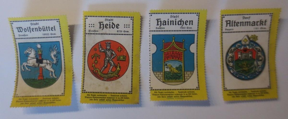 Vignetten Städte Heide, Altenmarkt, Hainchen, Wolfsbüttel 1900 ♥ (8879) 0