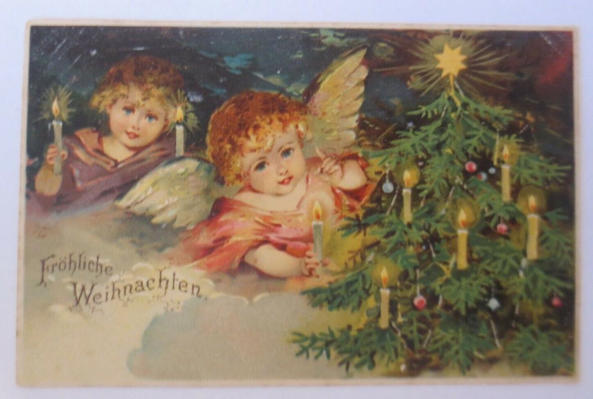 Weihnachten, Engel, Kerzen, Weihnachtsbaum, 1900 ♥  (56050) 0