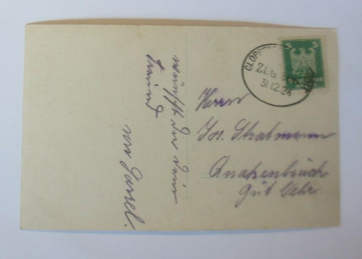 Neujahr, Kinder,  Teddy, Korb, Misteln,    1924  ♥ (66813) 1