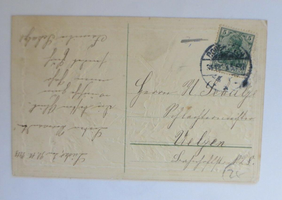 Neujahr, Wald, Winter, Blumen, Eiszapfen,   1909  ♥  (46697) 1