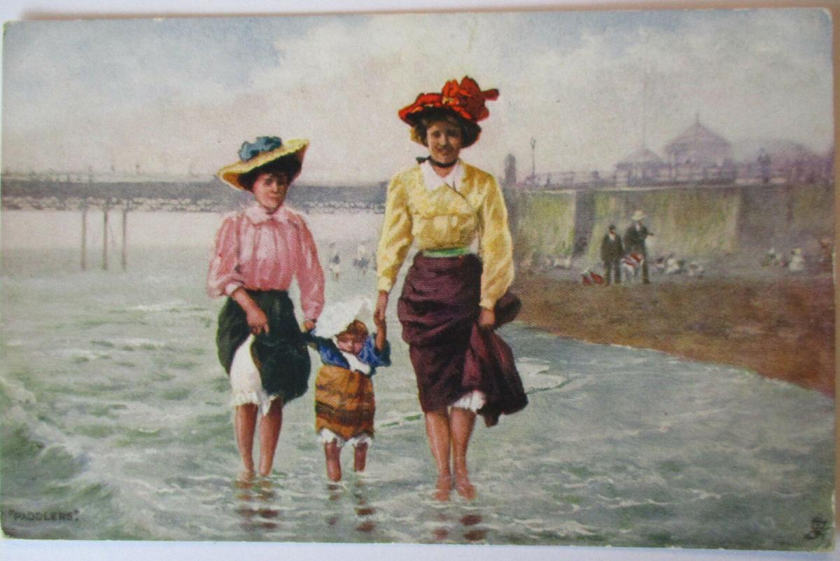 Meer, Strand, Baden, Tuck´s Oilette ca. 1910 (50217) 0