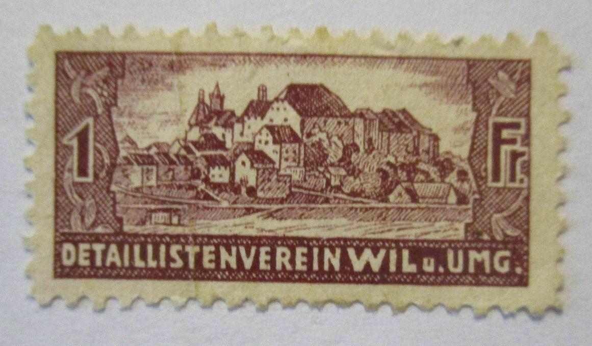 Schweiz, 1 Franken Detaillistenverein Wil Umgebung, Spendenmarke (492) 0