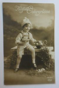 Ostern, Kinder, Mode, Blumen, Eier,  1913 ♥  (38068)