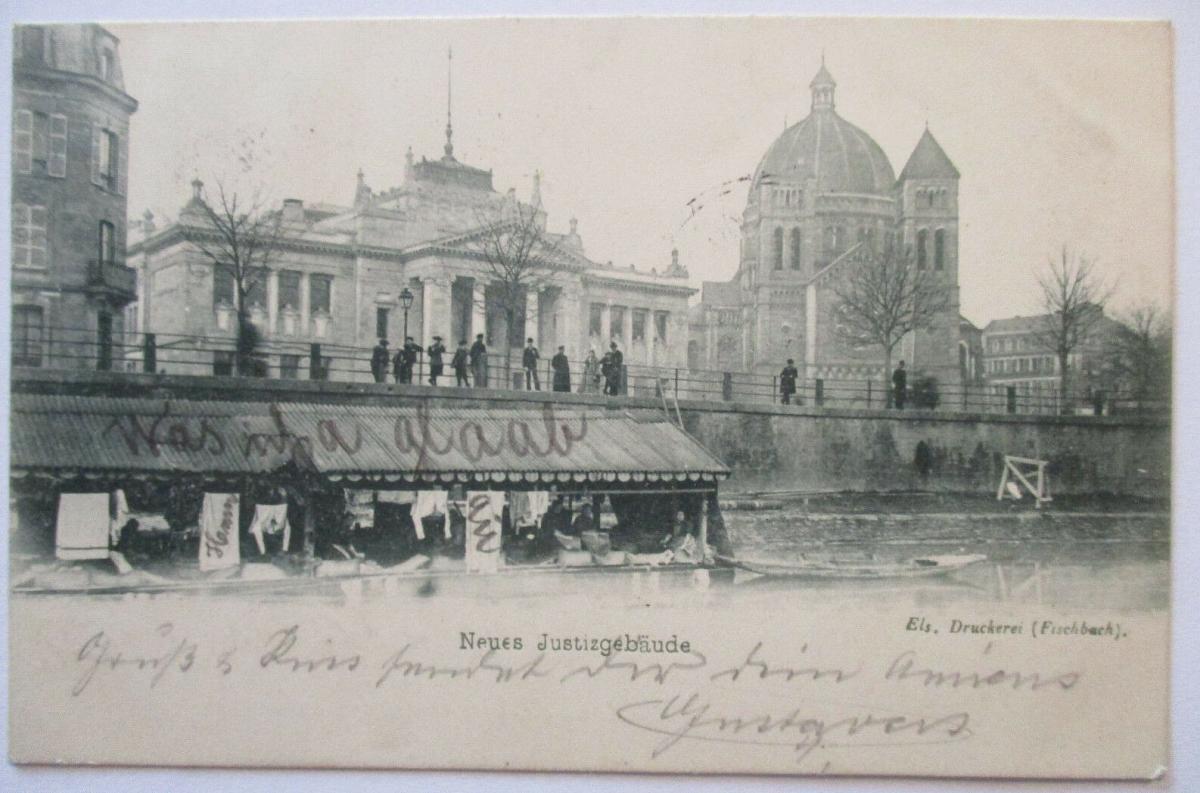 Straßburg, Neues Justizgebäude, 1898 (35182) 0