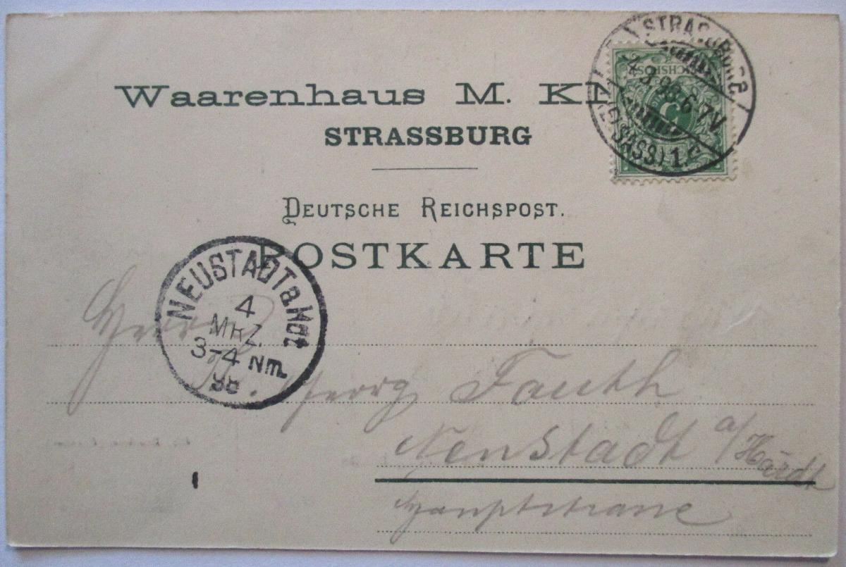 Straßburg, Neues Justizgebäude, 1898 (35182) 1