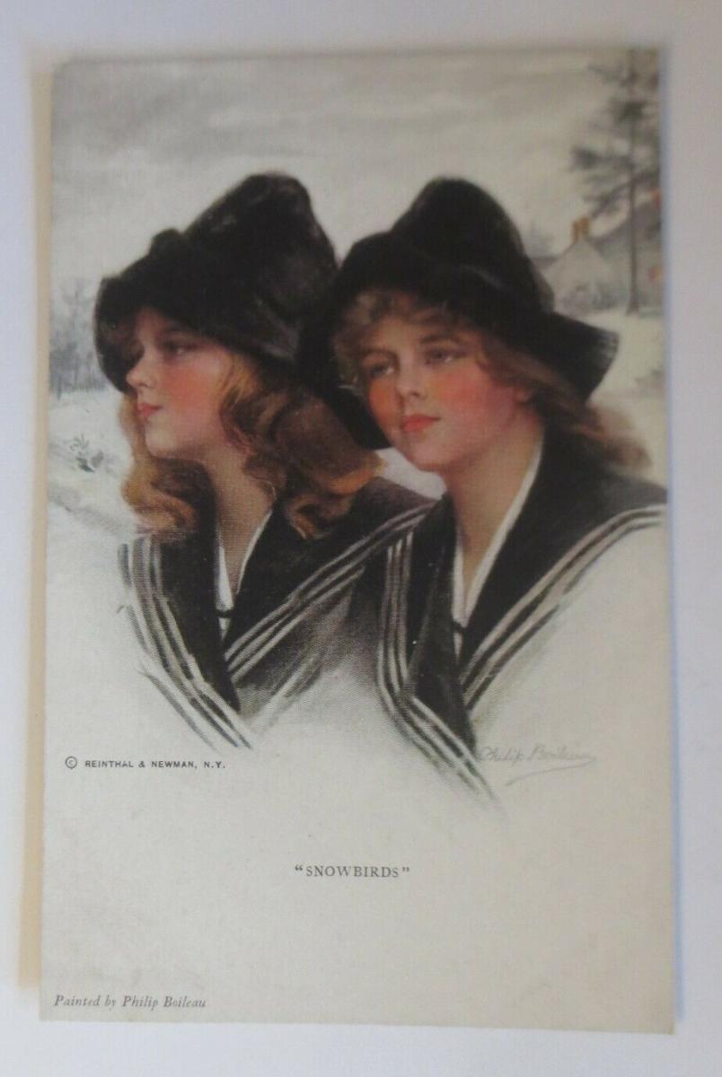 Künstlerkarte, Frauen, Mode, Snowbirds, Reinthal & Newman, 1920 ♥ (33151) 0
