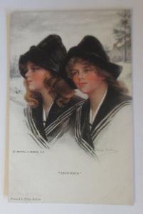 Künstlerkarte, Frauen, Mode, Snowbirds, Reinthal & Newman, 1920 ♥ (33151)