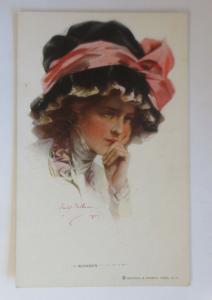 Künstlerkarte, Frauen, Mode, Hutmode, I Wonder Reinthal & Newman, 1920 ♥ (27820)