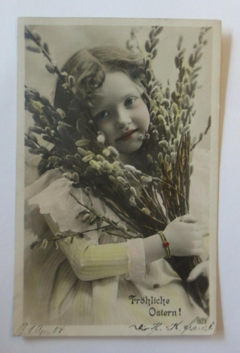Ostern, Kinder, Mode, Weidenkätzchen,  1904 ♥ (32283) 0