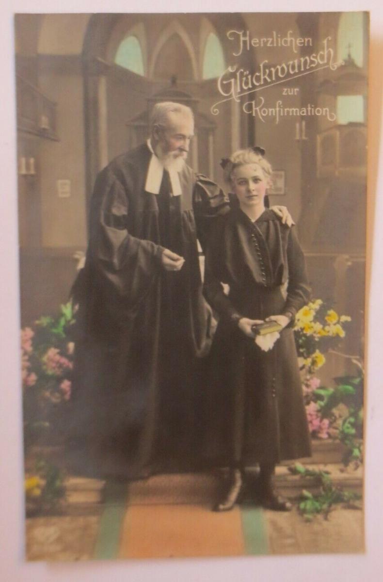 Konfirmation, Frauen, Mode, Kirche, 1910 ♥ (70092) 0