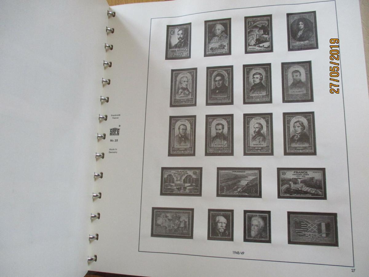 Frankreich 1938-1959 SAFE Album altes System 3
